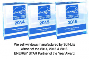 We sell Double Hung windows manufactured by Soft-Lite, winner of the 2014,2015 & 2016 ENERGY STAR Partner of the Year Award.