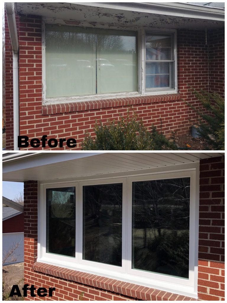 Before and After Windows replacement