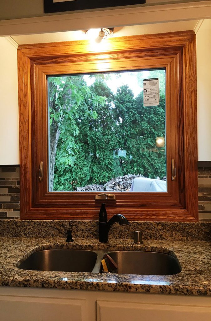 Backyard  picture window replacement in Menomonee Falls